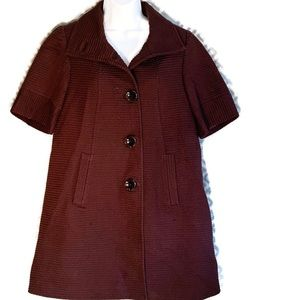 Milly Of New York Brown Peacoat Women Size 6